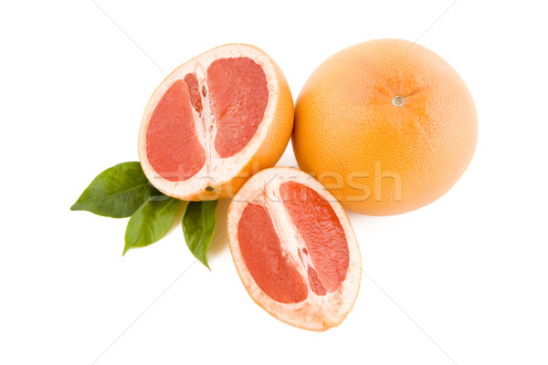 Rouge fraîches isolé blanche fruits vert Photo stock © Gbuglok