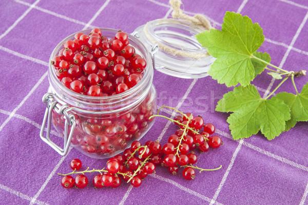 Red currants in a jar Stock photo © Gbuglok