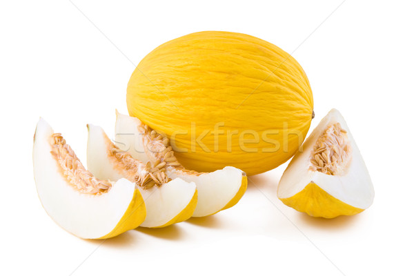 Jaune melon blanche fruits isolé alimentaire Photo stock © Gbuglok