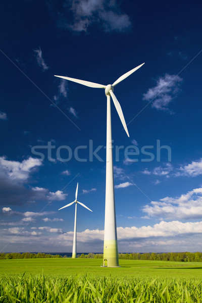 Windmills against a blue sky Stock photo © Gbuglok