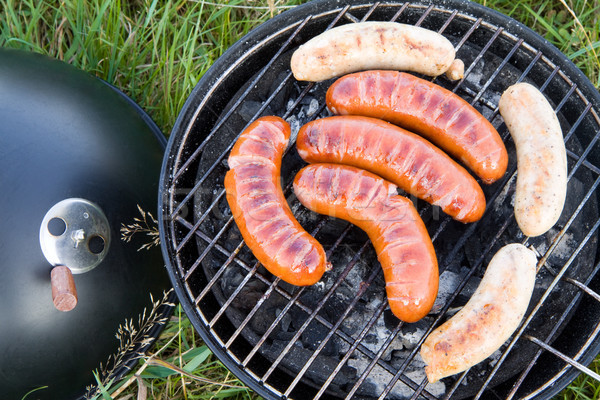 Barbecue sausages Stock photo © Gbuglok