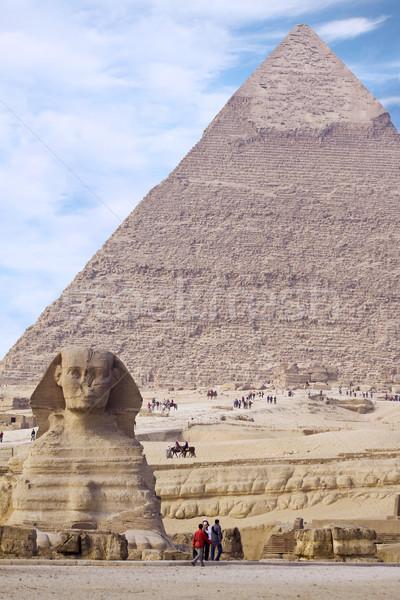 Egipcjanin piramidy starożytnych starych historyczny za Zdjęcia stock © Gbuglok