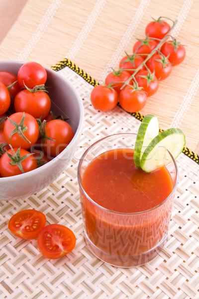 小 トマトジュース 新鮮な スライス キュウリ 野菜 ストックフォト © Gbuglok
