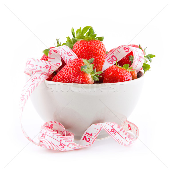 Strawberries in a bowl Stock photo © Gbuglok
