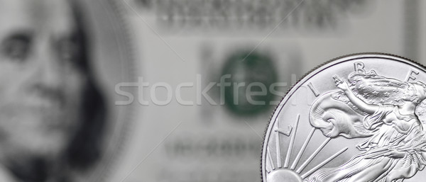 Silver coin horizontal Stock photo © Gbuglok