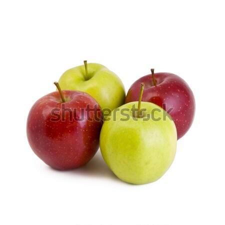4 リンゴ 緑 赤 孤立した 白 ストックフォト © Gbuglok