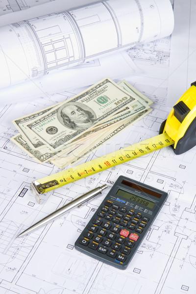 Architectural financière dollars mesure bande simulateur Photo stock © Gbuglok