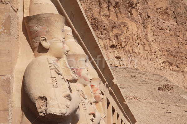 Stone statues in Egyptian temple Stock photo © Gbuglok