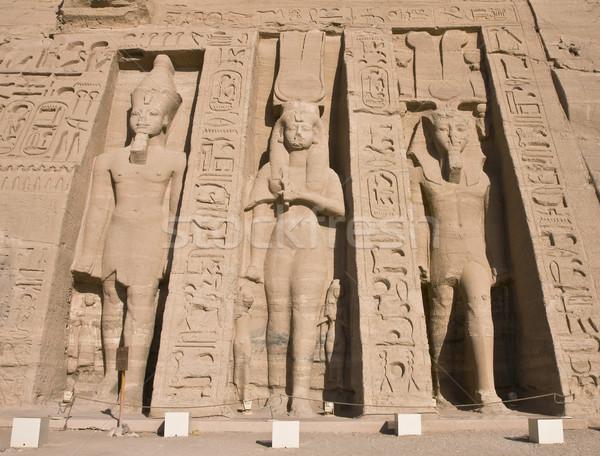 Pierre Egypte temple égyptien pharaon construction Photo stock © Gbuglok