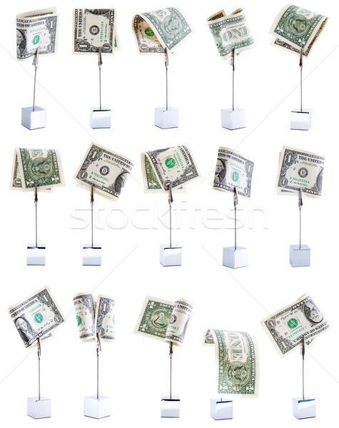 Quinze dólares três americano notas Foto stock © Gbuglok