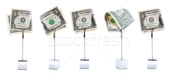 Five dollars in a row Stock photo © Gbuglok