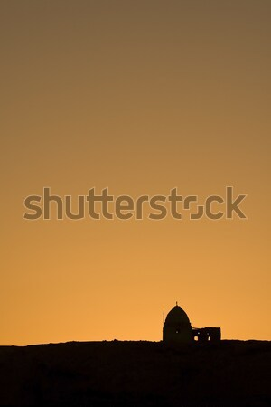 Old ruins in sunset Stock photo © Gbuglok