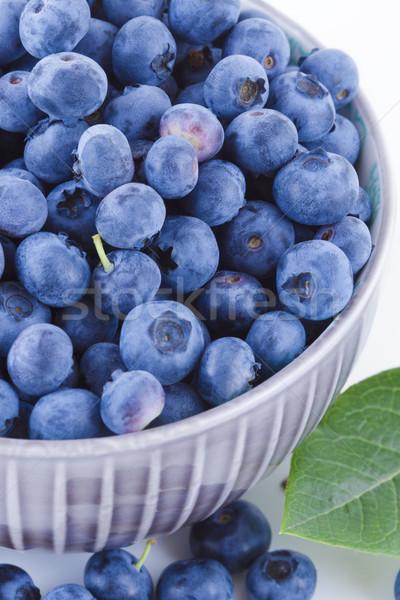 Vers bosbessen kom vruchten witte voedsel Stockfoto © Gbuglok