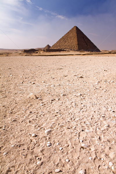 Pyramid in the desert Stock photo © Gbuglok