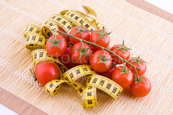Tomates sur mesure bande faible cocktail paille Photo stock © Gbuglok