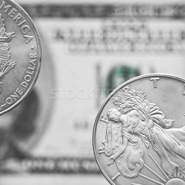 Two silver dollar coins Stock photo © Gbuglok