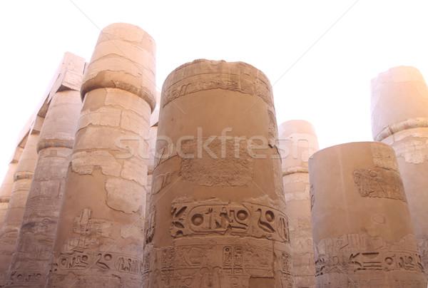 Anciens pierre colonnes temple Egypte construction Photo stock © Gbuglok