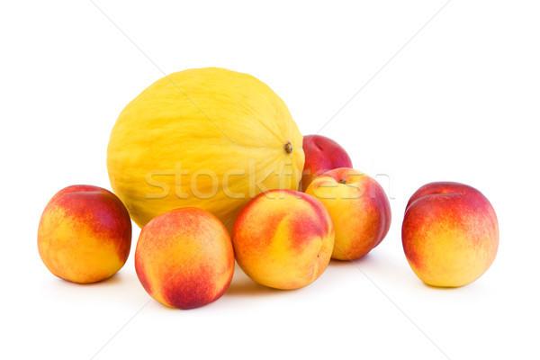Perziken meloen witte vers Geel vruchten Stockfoto © Gbuglok