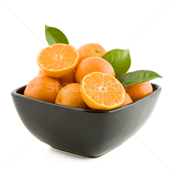 Tangerines in a bowl Stock photo © Gbuglok