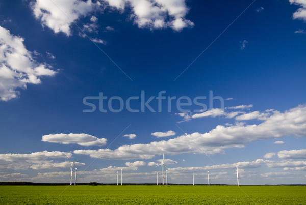 Landscape with windmills Stock photo © Gbuglok