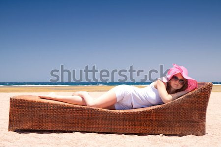 Woman on the lounger Stock photo © Gbuglok