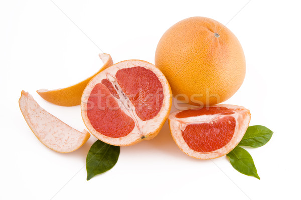 Photo stock: Rouge · pelé · fraîches · isolé · blanche · fruits