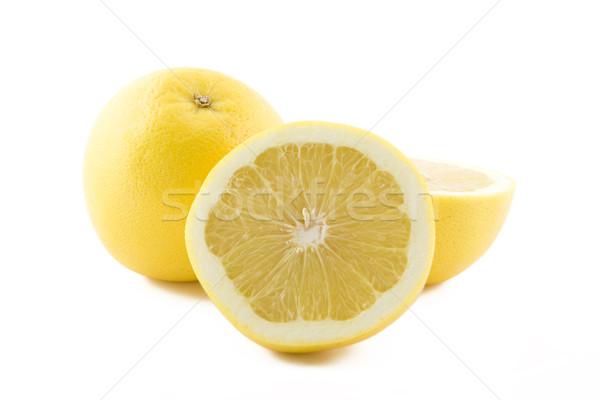 Witte vers sappig grapefruit geïsoleerd natuur Stockfoto © Gbuglok