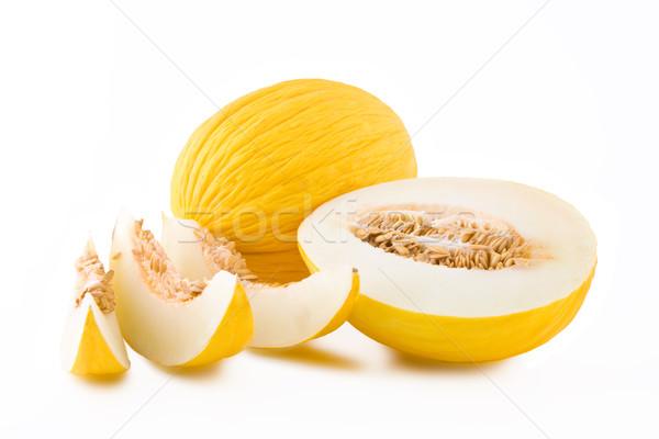 黄色 メロン フルーツ スライス 孤立した 白 ストックフォト © Gbuglok