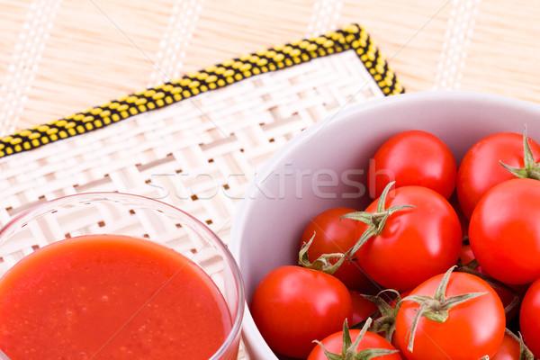 Tomates jus faible cocktail fraîches légumes Photo stock © Gbuglok
