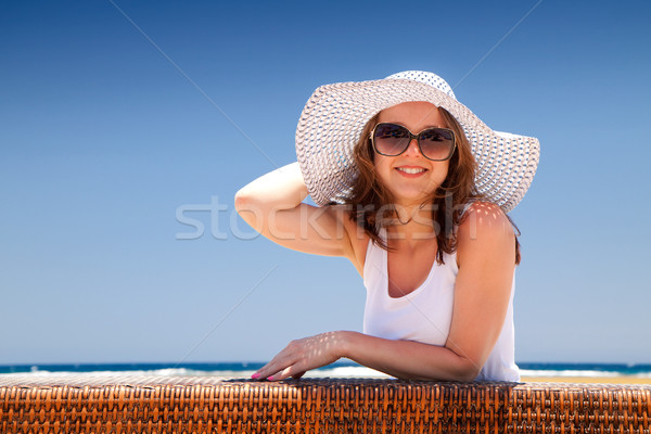 The young woman on holidays Stock photo © Gbuglok