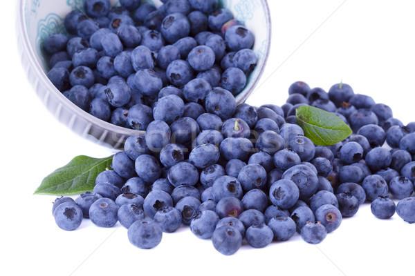 果物 ブルーベリー ボウル 新鮮な 孤立した 白 ストックフォト © Gbuglok