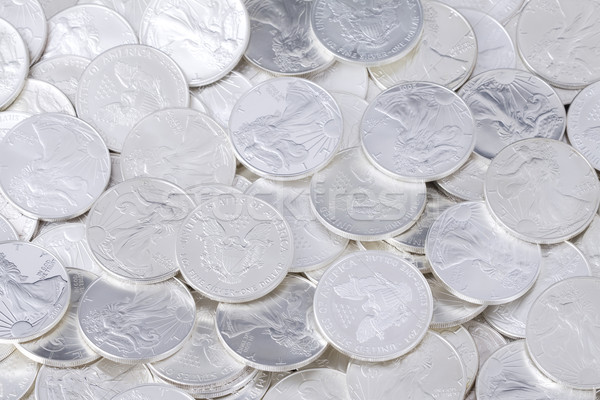 Stock photo: Shiny coins background