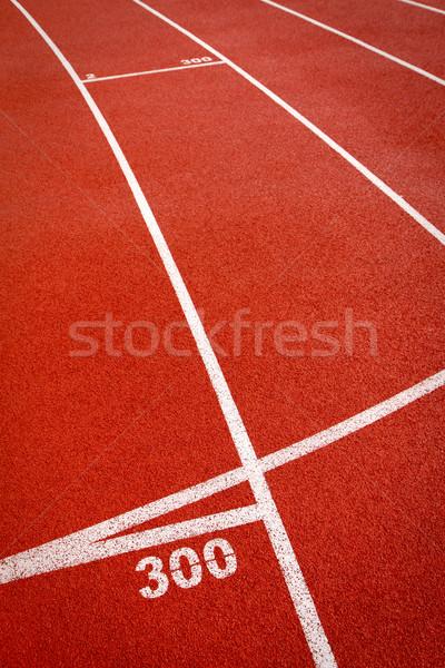 Rood sport landingsbaan track oppervlak Stockfoto © Gbuglok