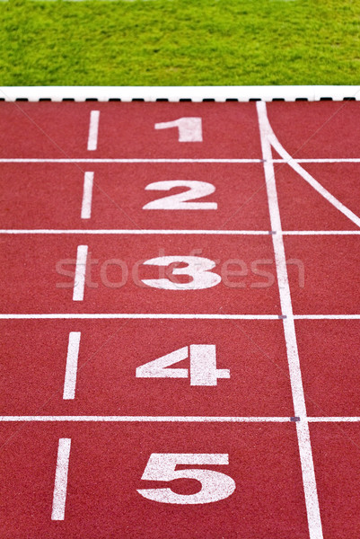 Track lanes, numbers Stock photo © Gbuglok