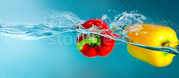Colorido pimentas azul água comida Foto stock © GekaSkr