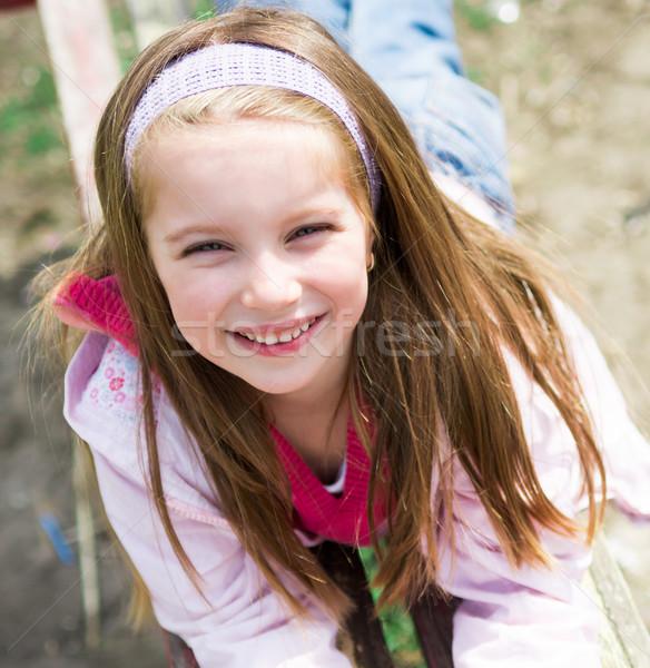 портрет счастливым девушки Cute улыбаясь парка Сток-фото © GekaSkr