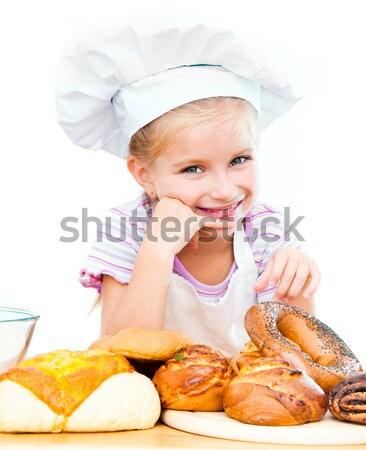 シェフ キッチン パン 小麦粉 白 ストックフォト © GekaSkr
