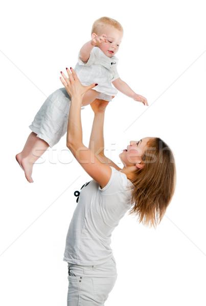 Matka syn mama mały chłopca głowie Zdjęcia stock © GekaSkr