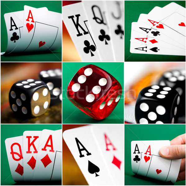 set of different actions and scenes in casino Stock photo © GekaSkr