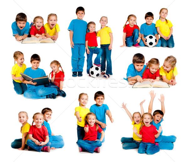 Crianças branco conjunto pequeno isolado Foto stock © GekaSkr