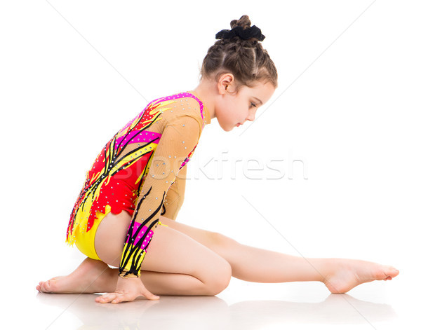 девочку гимнаст Nice белый спорт ребенка Сток-фото © GekaSkr