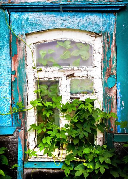 окна старом доме текстуры стены домой стекла Сток-фото © GekaSkr