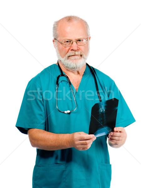 Médico olhando hospital medicina branco pessoa Foto stock © GekaSkr
