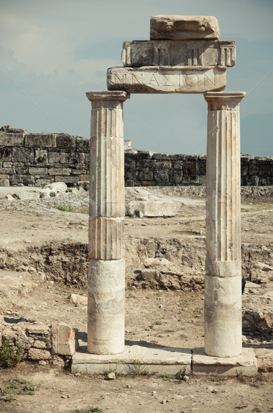 ancient columns Stock photo © GekaSkr