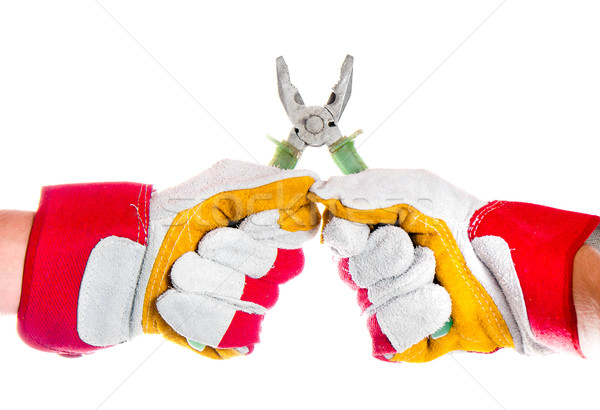 gloved hand with pliers Stock photo © GekaSkr