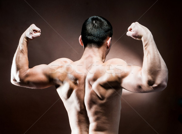 Stock photo: muscular male back