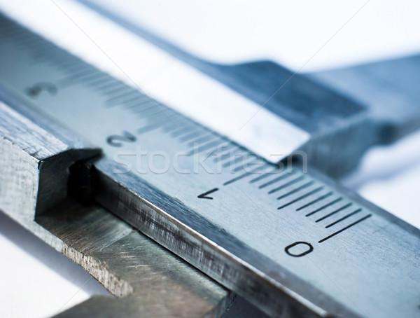 Srebrny biały budowy pracy technologii metal Zdjęcia stock © GekaSkr