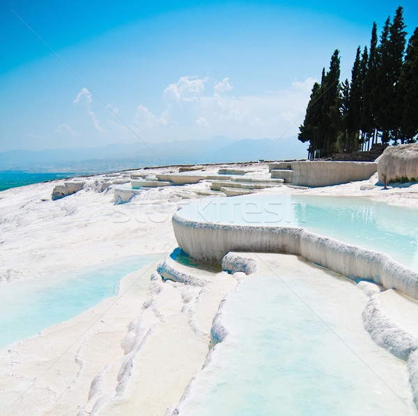 Türkiye doğa dağ havuz beyaz güzel Stok fotoğraf © GekaSkr