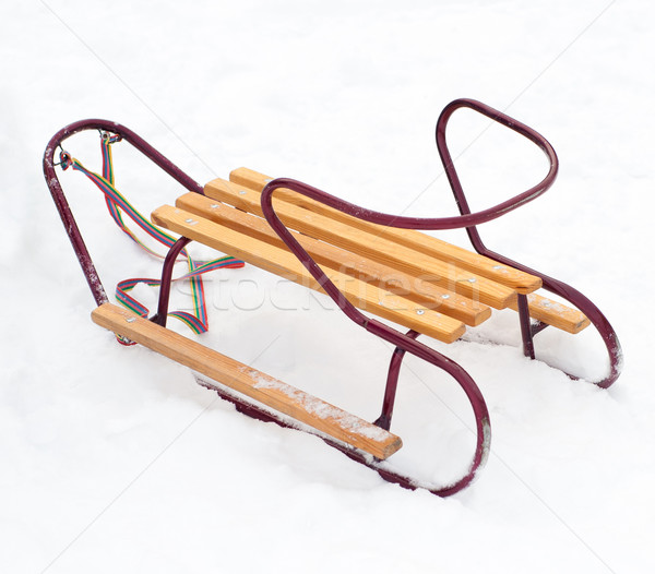 wooden sledge Stock photo © GekaSkr
