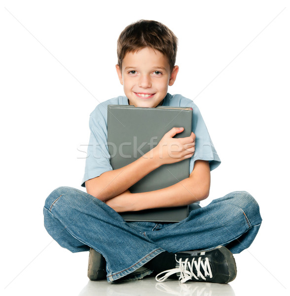 мальчика книга белый ребенка красоту Сток-фото © GekaSkr